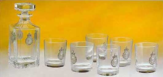 Napoleon Crystal whiskey set