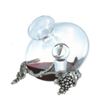 Decanter with Pewter Vigne support
